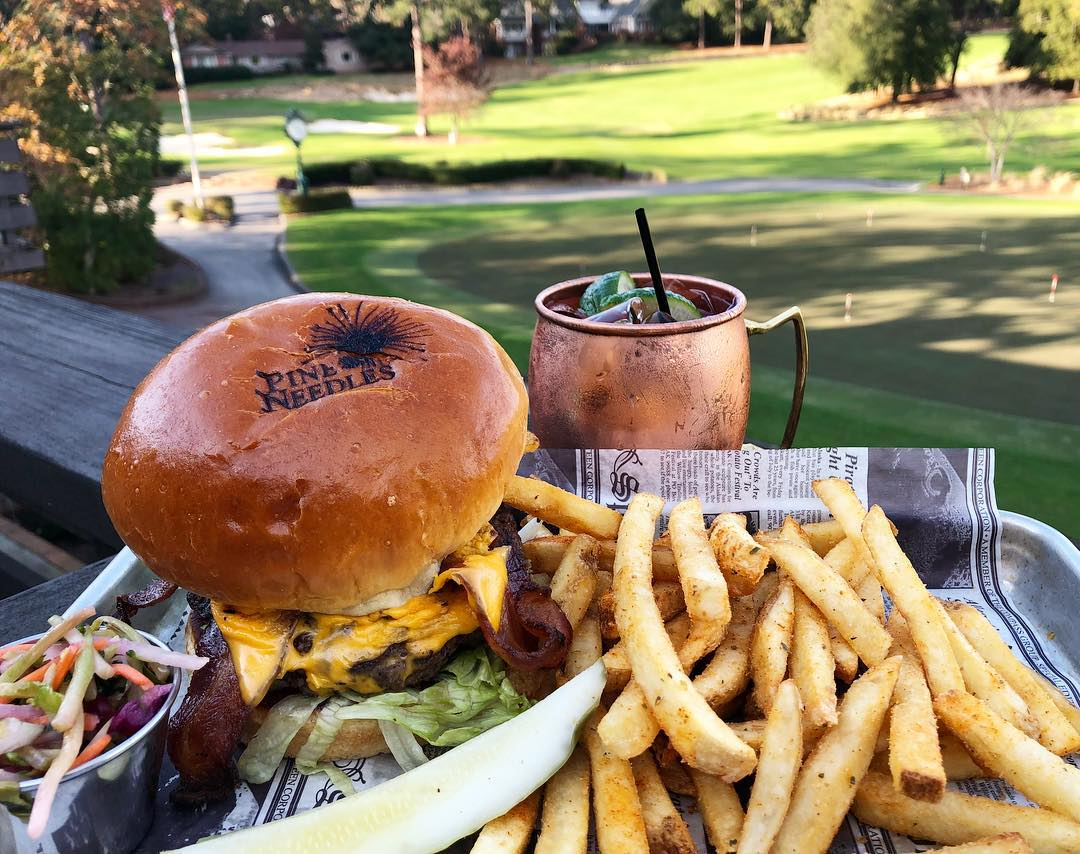 In The Rough Burger. (Image: Courtesy Pine Needles Resort)