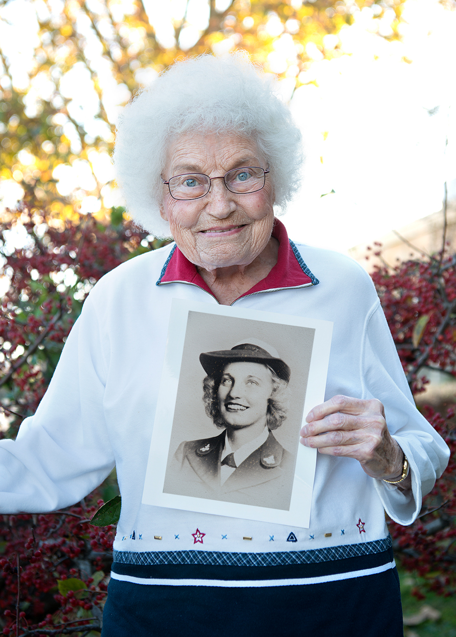 "RUTH HARTMAN / She volunteered in 1943 because, according to her, ""it was the patriotic thing to do."" Read more of her story at facebook.com/theygaveitall. / Image: Patrick McCue // Published: 1.29.17"