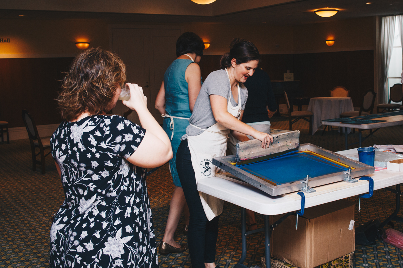 Pull Club Studio helped guests make their own screen prints. / Image: Catherine Viox // Published: 9.7.18