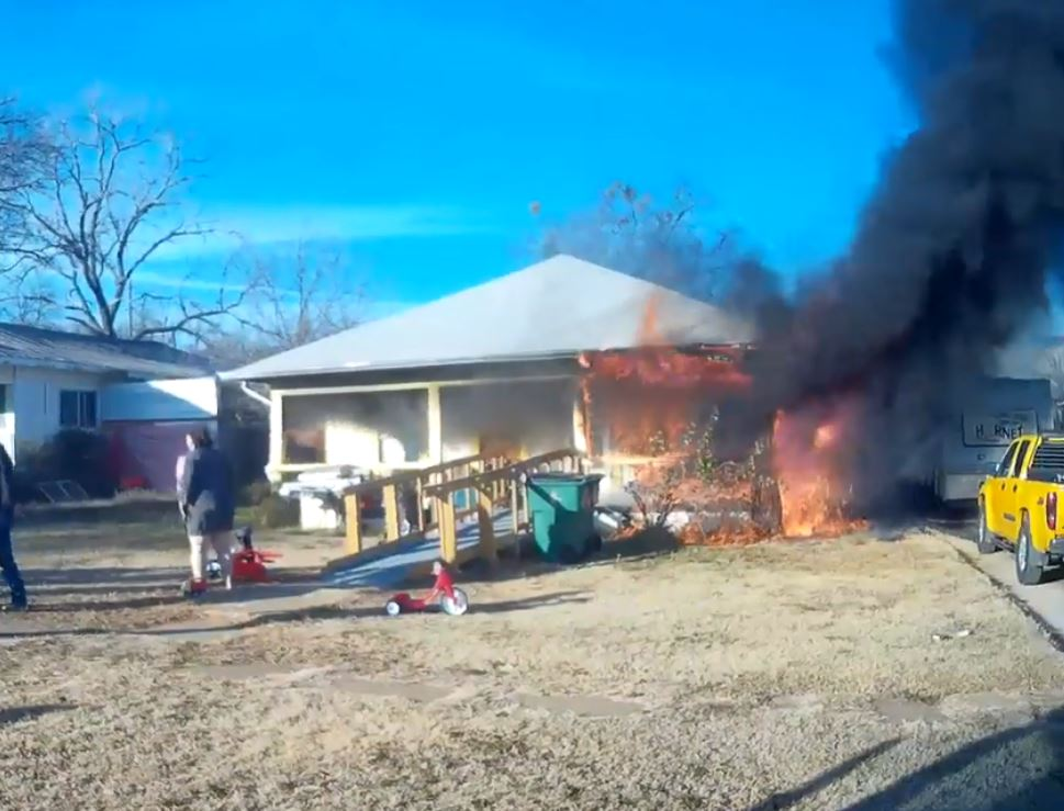 House fire in the 200 block of South Connellee Street in Eastland, Texas. (Eastland Fire Department)<p></p>