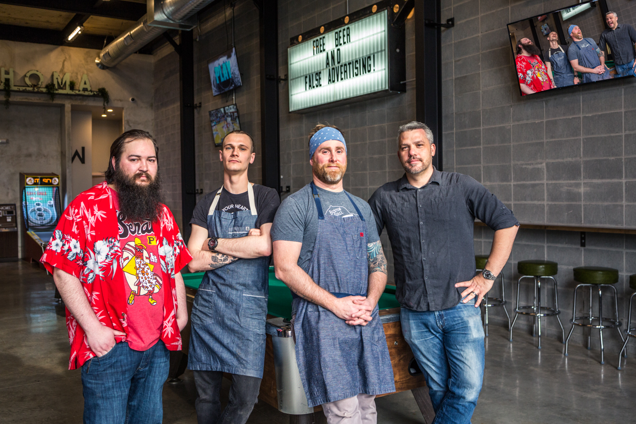 Thomas Daily, Chef Ethen Greene, Daniel Wright, Mike Georgiton / Image: Catherine Viox{ }// Published: 4.7.19