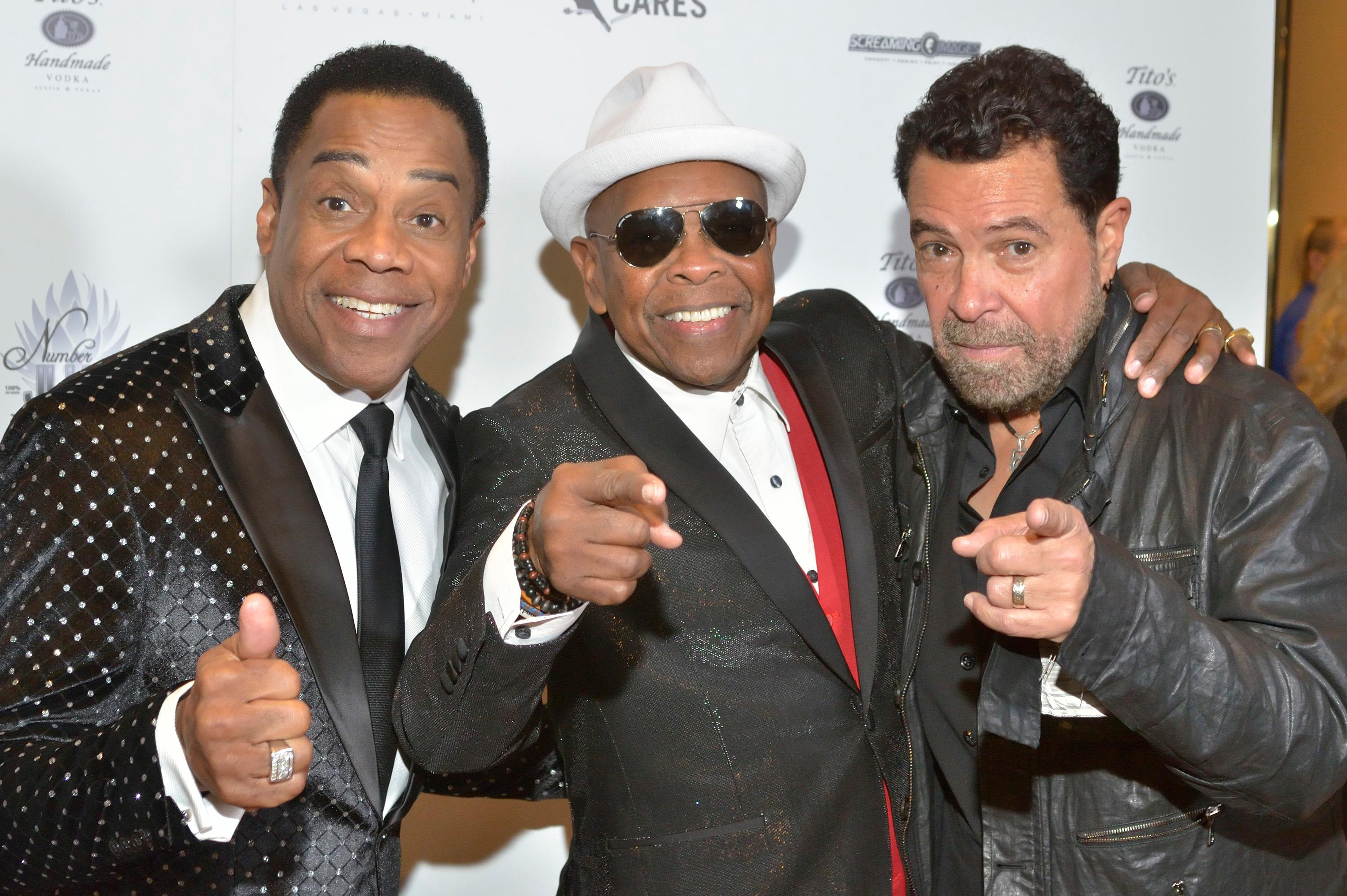 "Earl Turner, left, Bubba Knight, center, and Clint Holmes are shown at the ""Vegas Cares"" benefit concert at the Venetian Theatre in the Venetian hotel-casino at 3355 S. Las Vegas Blvd in Las Vegas on Sunday, Nov 5, 2017. The concert was sponsored by a group of Las Vegas entertainers, producers and business professionals to honor the victims and first responders from shooting at the Route 91 Harvest festival. (Photo/Las Vegas News Bureau/Bill Hughes)"