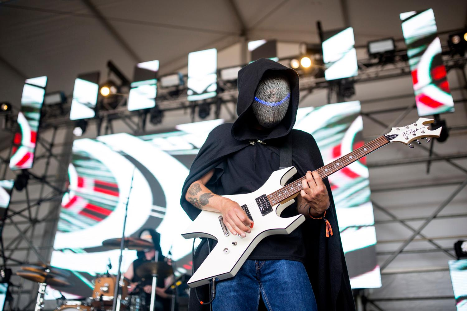 Magic Sword performs at the second day of the annual Sasquatch! Music Festival. The three-day festival runs throughout the Memorial Day Weekend, from May 25-27, 2018. (Sy Bean / Seattle Refined)