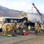 Authorities: Bus driver didn't brake before hitting big rig in California