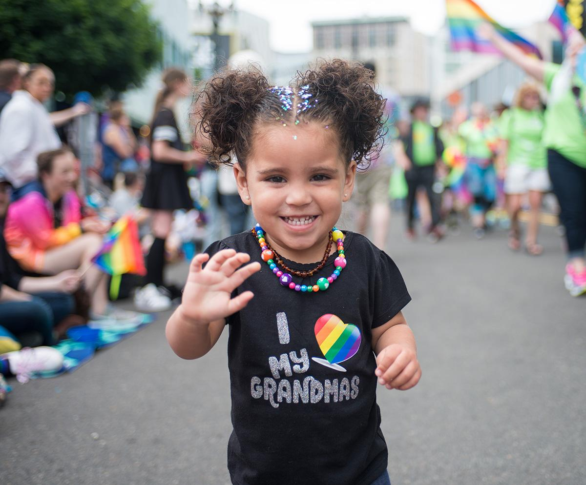 It was a day of bright colors and celebration on Sunday at the annual Portland Pride Parade, dedicated to highlighting all the diverse aspects of the LGBTQ community. The parade caps off Pride Week in the Rose City. (KATU photo taken 6-18-2017 by Tristan Fortsch)
