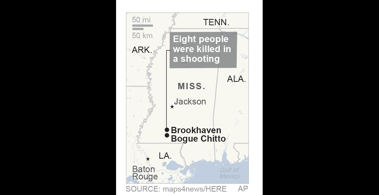 Police say 8 dead in Mississippi shooting. (AP)