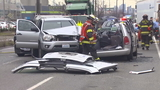 Victim trapped after 5-vehicle rollover crash near SoDo