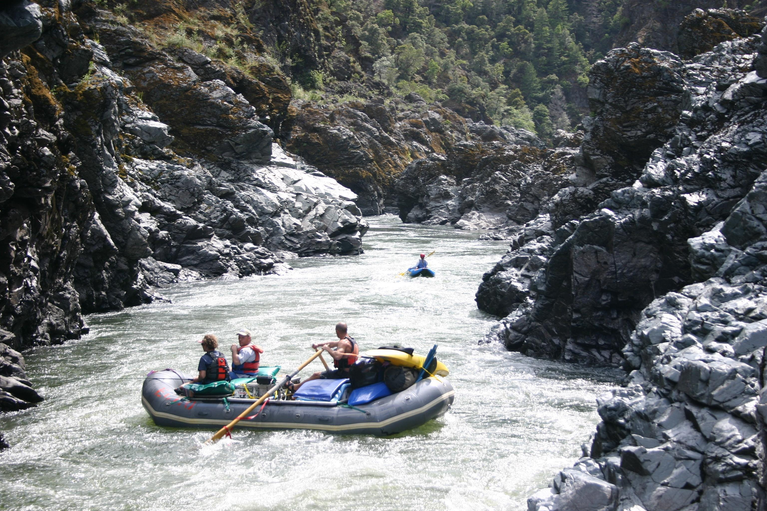 Rafters enter Mule Creek Canyon in the Rogue River. Photo courtesy of Zach Collier / Northwest Rafting Company