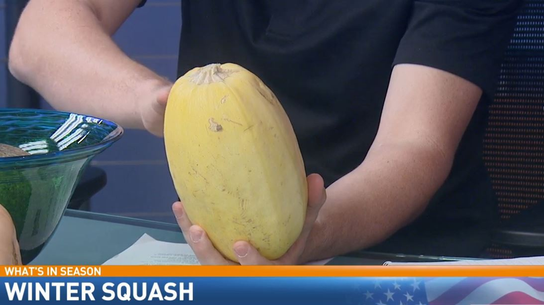 Ryan is holding a spaghetti squash