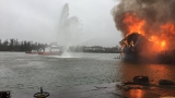 Crews battle blaze on WWI-era boat for five hours at Curtis Bay