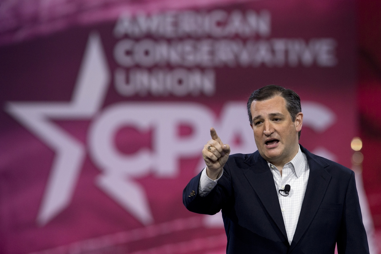 Republican presidential candidate, Sen. Ted Cruz, R-Texas, speaks during the Conservative Political Action Conference (CPAC), Friday, March 4, 2016, in National Harbor, Md. (AP Photo/Carolyn Kaster)