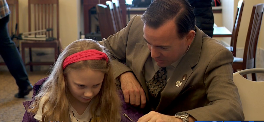 Utah School for the deaf and blind take the classroom to State Capitol (Photo: KUTV){ }