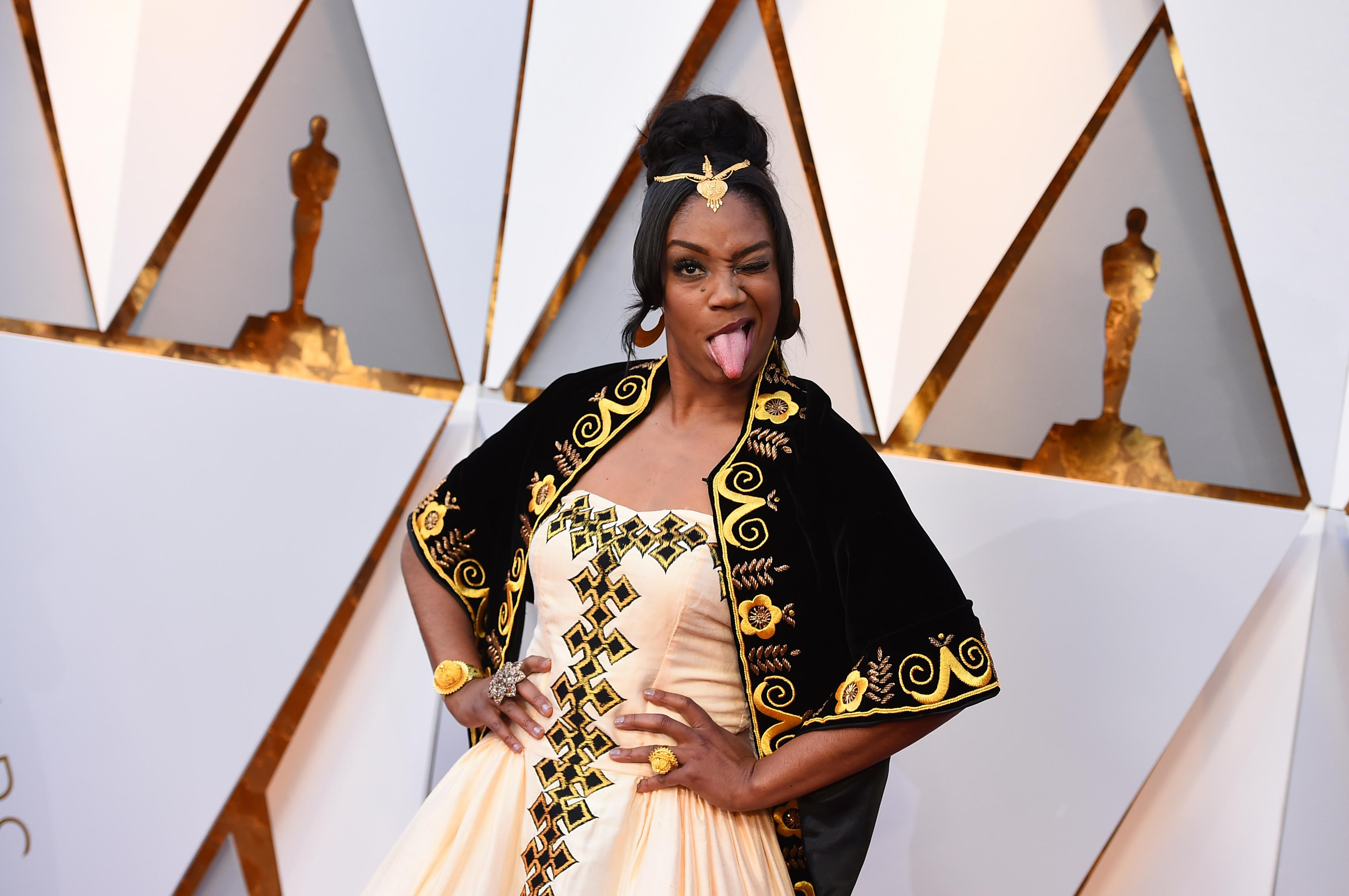 Tiffany Haddish arrives at the Oscars on Sunday, March 4, 2018, at the Dolby Theatre in Los Angeles. (Photo by Jordan Strauss/Invision/AP)