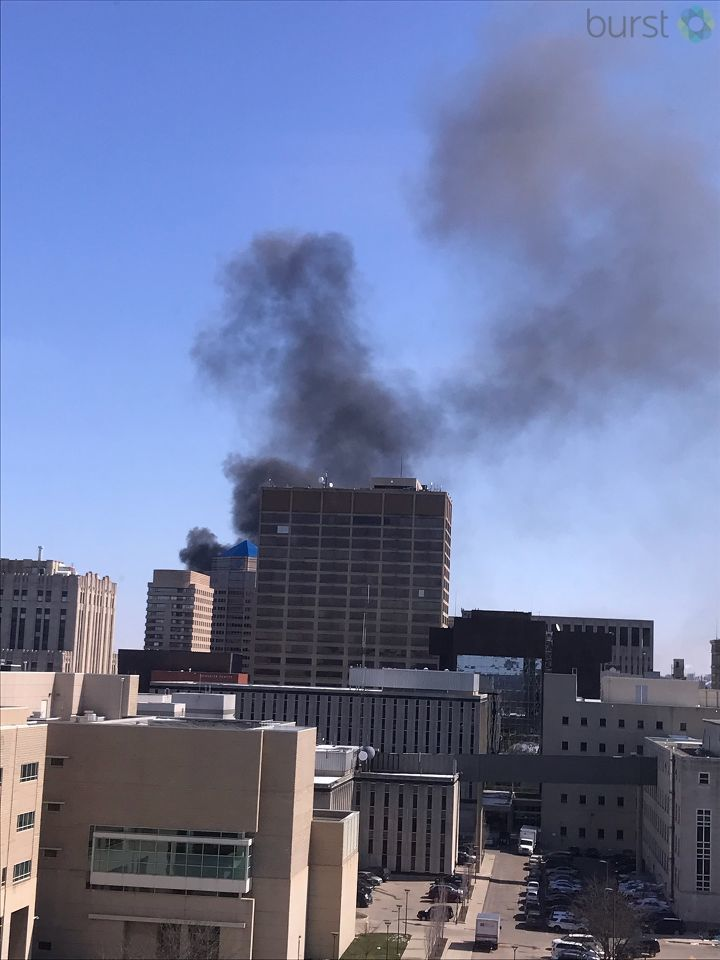 Caresource building under construction in downtown Dayton on fire (Photo: Stacy Murray via Burst)
