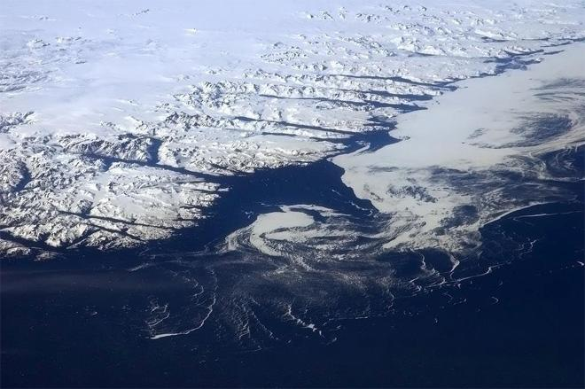 Looking north from our orbit to the forbidding rock and ice of Greenland.  (Photo & Caption: Col. Chris Hadfield, NASA)