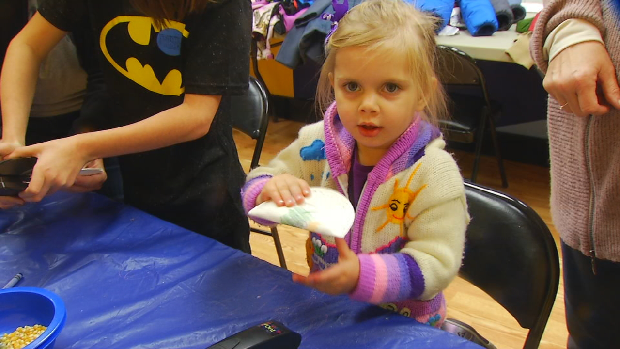 Kids at the Hands On! Children's Museum in Hendersonville created corn-filled shakers to celebrate the new year. (Photo credit: WLOS Staff)