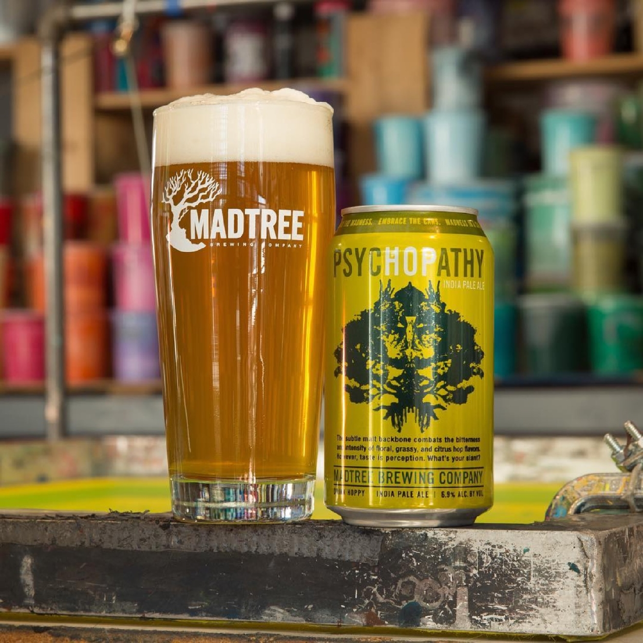 PSYCHOPATHY by MadTree Brewing / A hoppy IPA whose floral notes mute its bitterness until the finish. / Image courtesy of MadTree Brewery // Published: 1.10.17