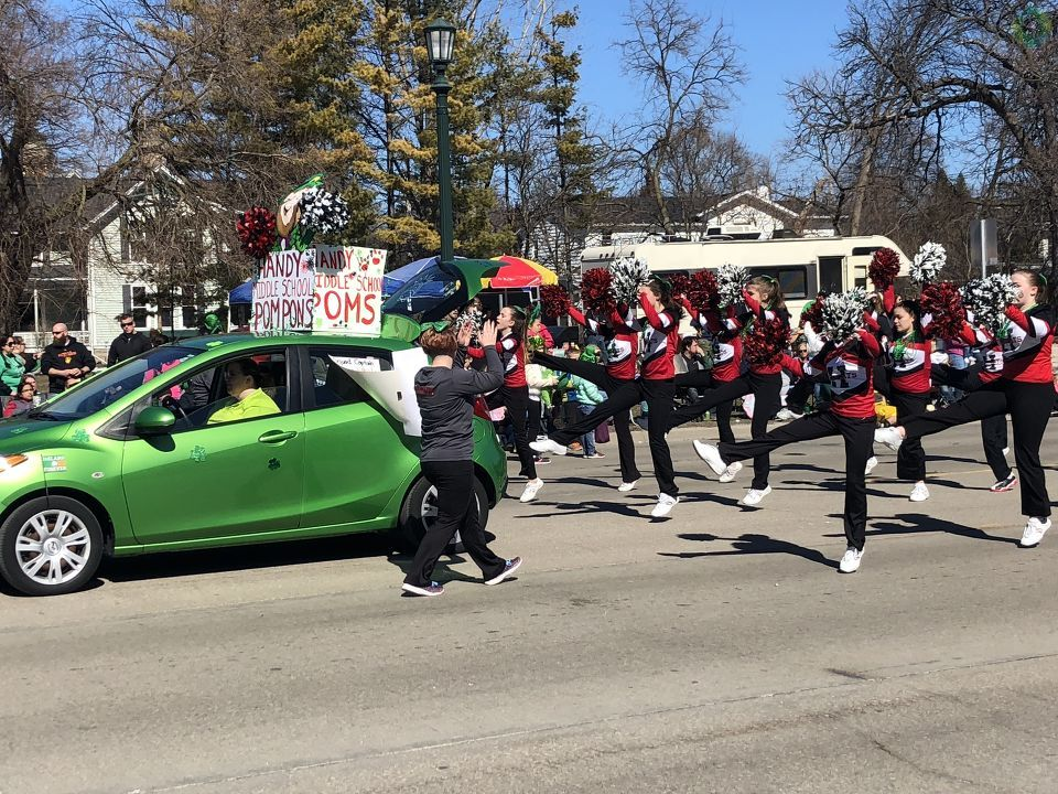 Thousands of people lined Center Avenue for the Bay City St. Patrick's Day Parade. (Photo Credit: Jasmyn Durham){ }