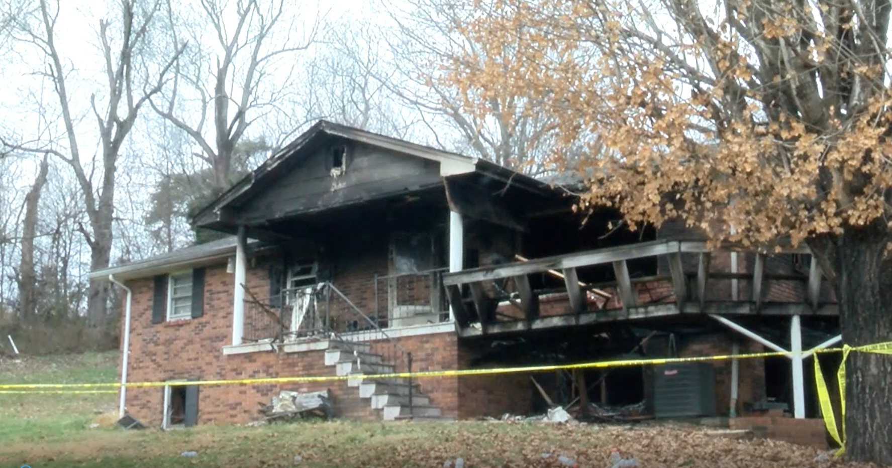 Sullivan County Sheriff's deputies are investigating a house fire in Blountville, Tennessee after renters set up a moonshine still in the basement without the owner's knowledge. (Photo credit: WCYB)