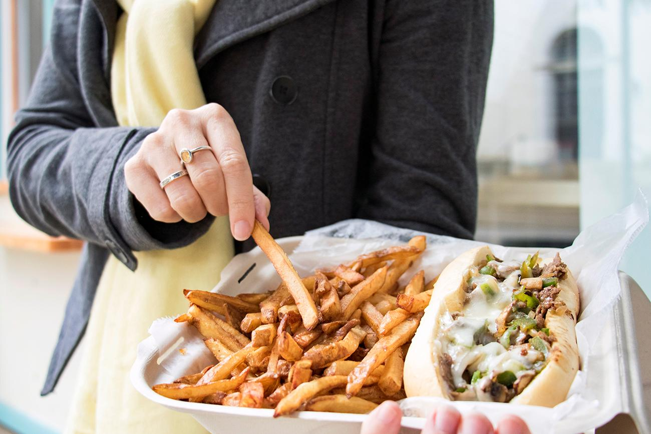 <p>OTR Philly with a side of fresh cut fries / Image: Allison McAdams // Published: 9.30.18</p>