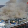 Roofing materials catch fire on top floor of CareSource building under construction