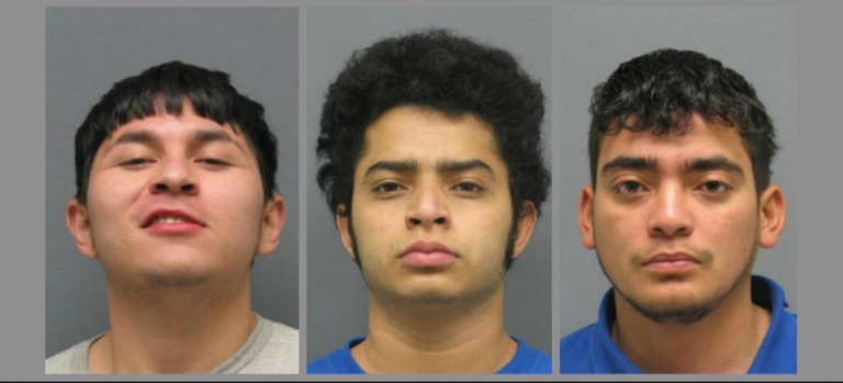 Erick Gonzalez Contreras, left, Denis Espinal Alvarez, center, Manuel Enrique Lopez, right, Wednesday, May 9, 2018 (Prince William County Police){ }