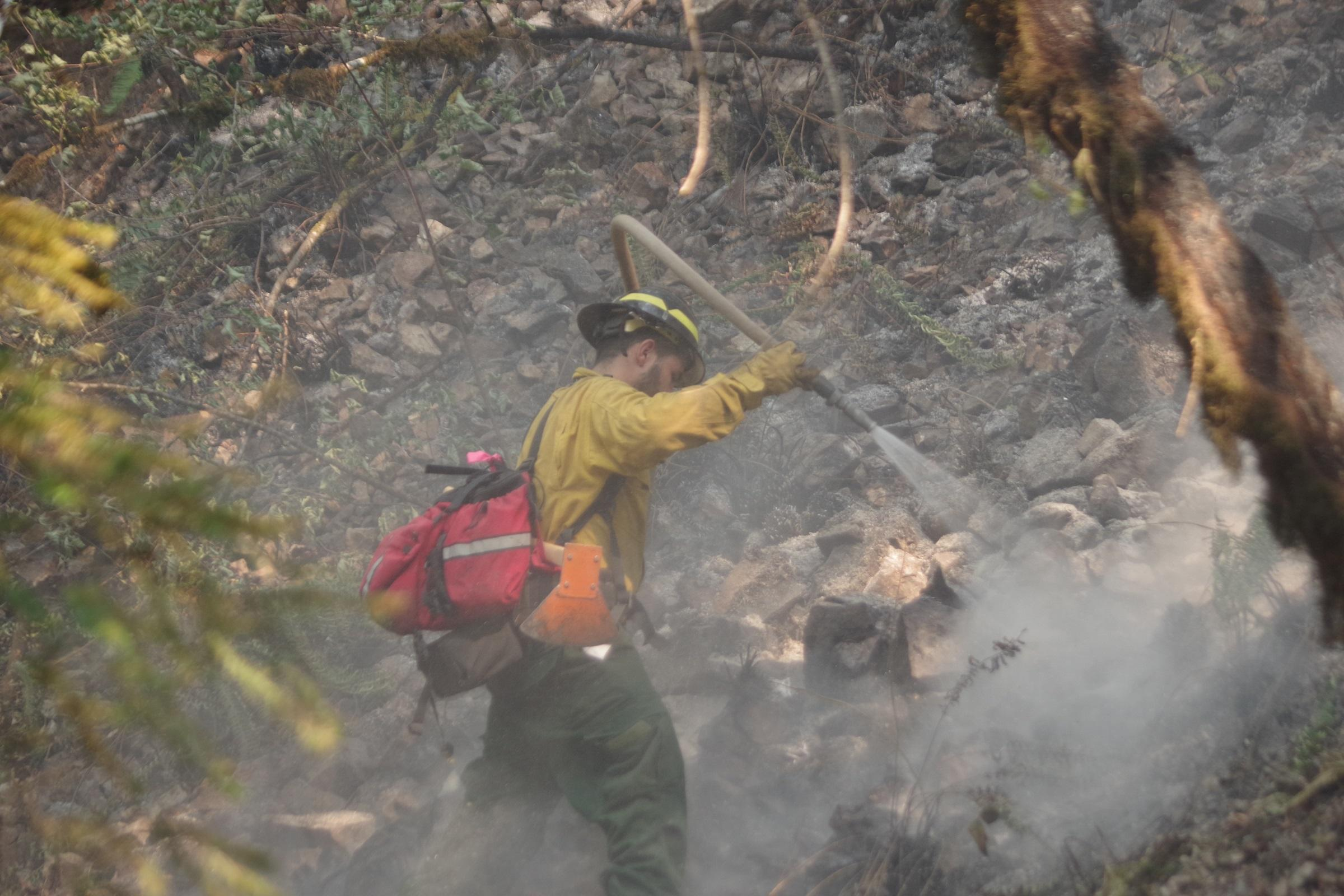 Overnight mapping places the fire at 11,668 acres as of July 29, 2019. Fire managers say the blaze is 10 percent contained. The fire broke out late Wednesday, July 24, the result of an illegal campfire. The blaze grew rapidly over the next 72 hours. (Kyle Reed/DFPA)