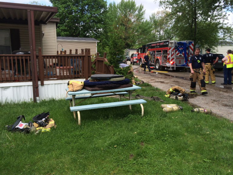 Multiple cats and a dog rescued from Goshen house fire. // WSBT 22 photo