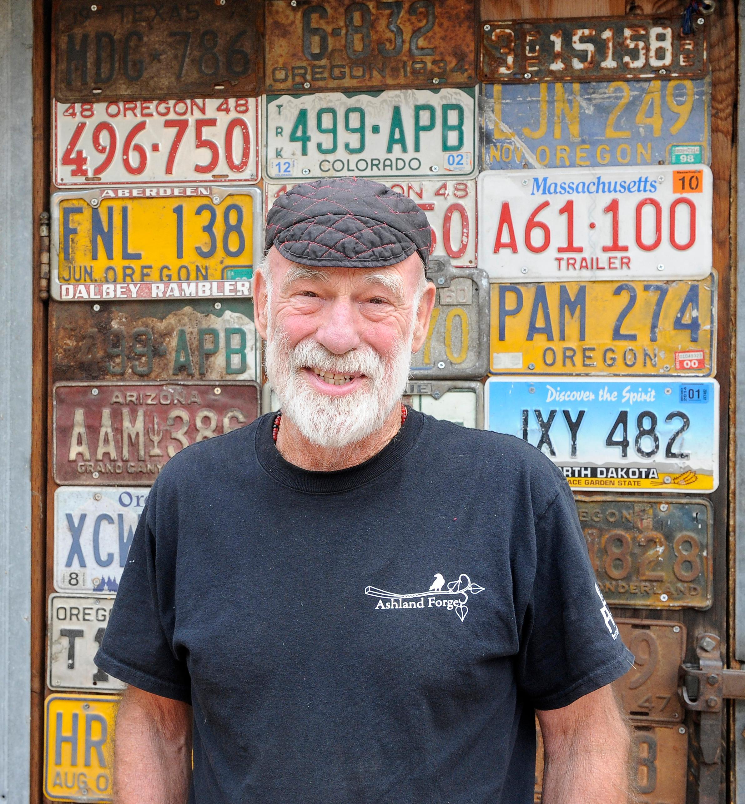 Andy Atkinson / Mail Tribune<br>Ashland Forge owner and operator Dennis DeBey.