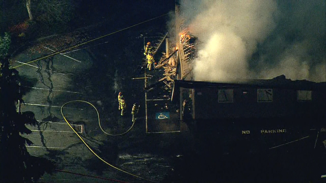 Fire burns Kingdom Hall of Jehovah's Witnesses church in Lacey (Photo: KOMO News)