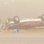 Eight-car wreck shuts down I-35 North near Moore