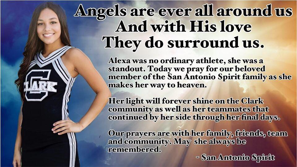 Classmates and local cheer teams have been honoring Alexa Montez, 16, on social media.