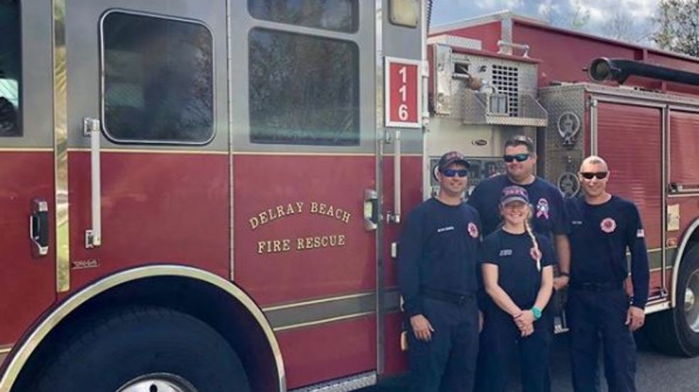 Delray Beach Fire Rescue Members Make Their Way Home After Recovery Efforts