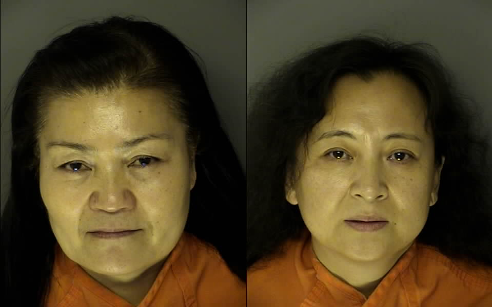 Yuqin Wang and Baoping Wu. (Credit: J. Reuben Long Detention Center)