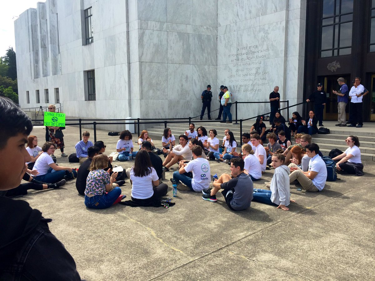 Those for and against HB-2020 gather on the steps of the Oregon State Capitol on Tuesday, June 25 - KATU image from Mike Warner 1.jpg