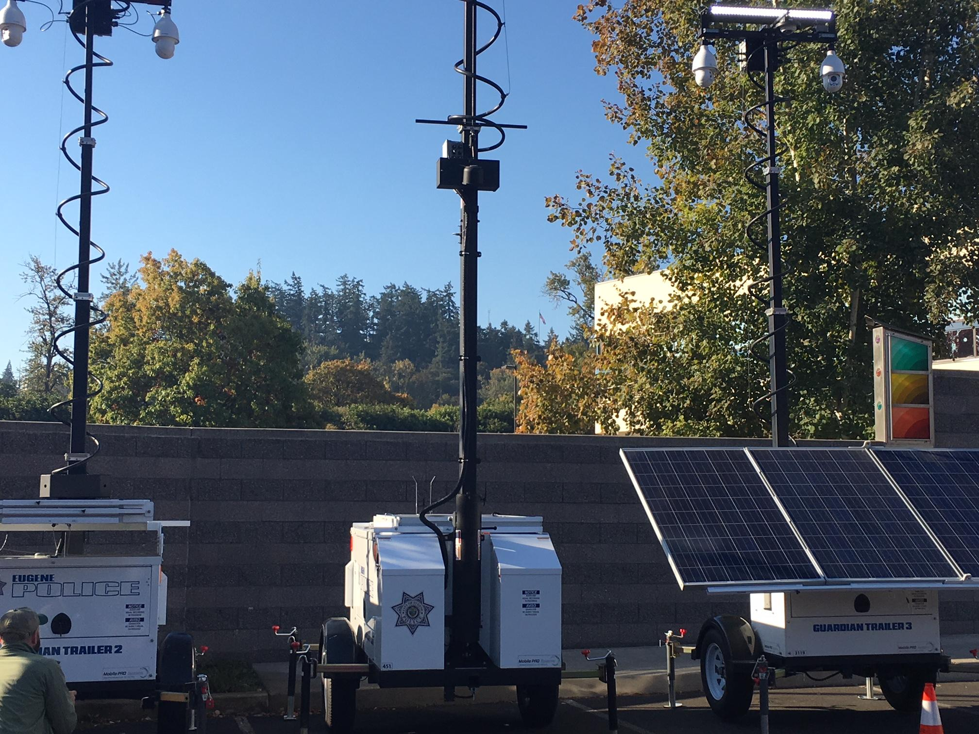 New 'guardian trailers' placed around downtown Eugene to help with public safety
