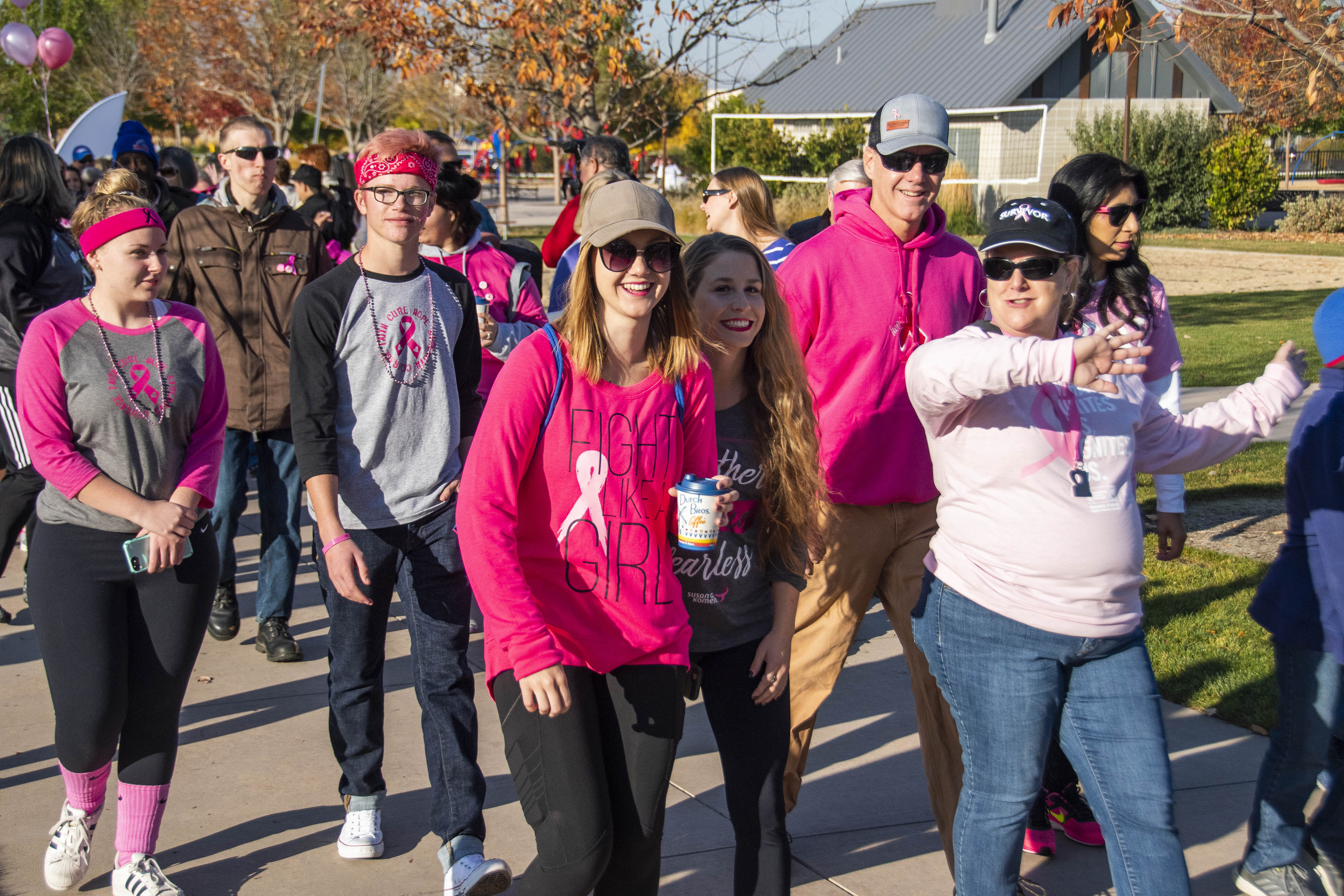 Making Strides of Treasure Valley filled Julius Kleiner Park Saturday in Meridian. The event is dedicated to the celebration of survivors of breast cancer as well as bringing awareness to the disease. Participants walked three times around the park and were allowed to finish anytime as the event was not a race.{ }