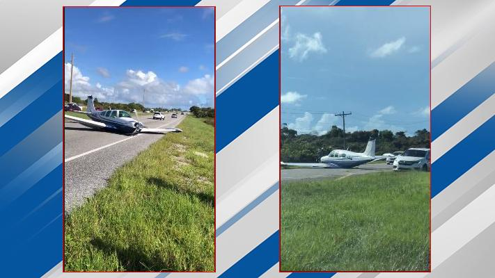 Plane lands in road in Hobe Sound. (Video courtesy: DIane)