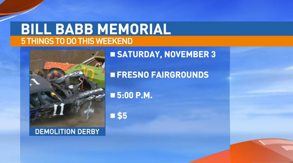 Bill Babb Memorial Demolition Derby Saturday at the Fresno Fairgrounds