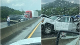 Wreck temporarily shuts down I-40 westbound in Haywood County