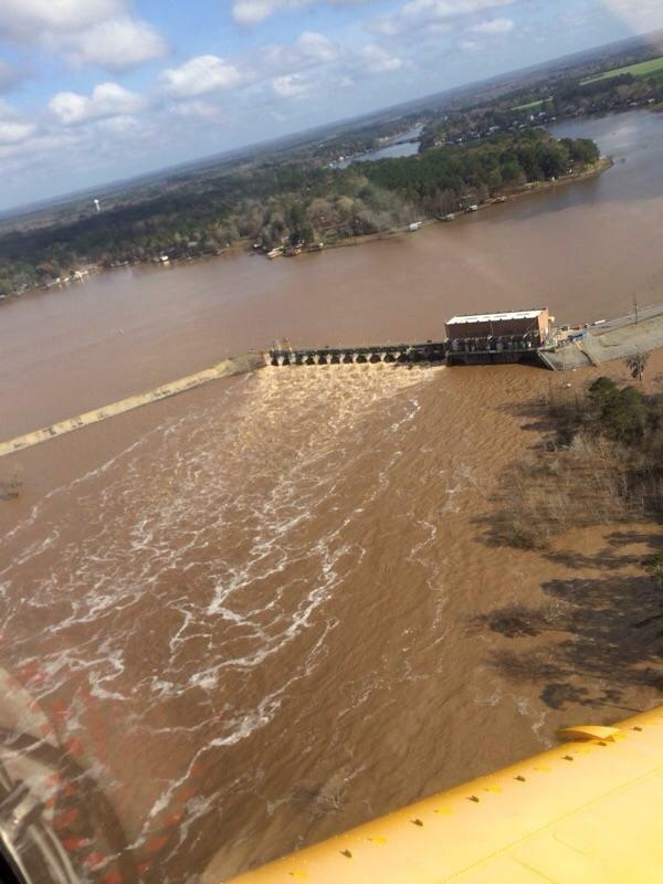 The Crisp County Power Commission has opened the flood gates at Lake Blackshear ahead of increased water flow moving down the Flint River. / Sam Farrow Jr.