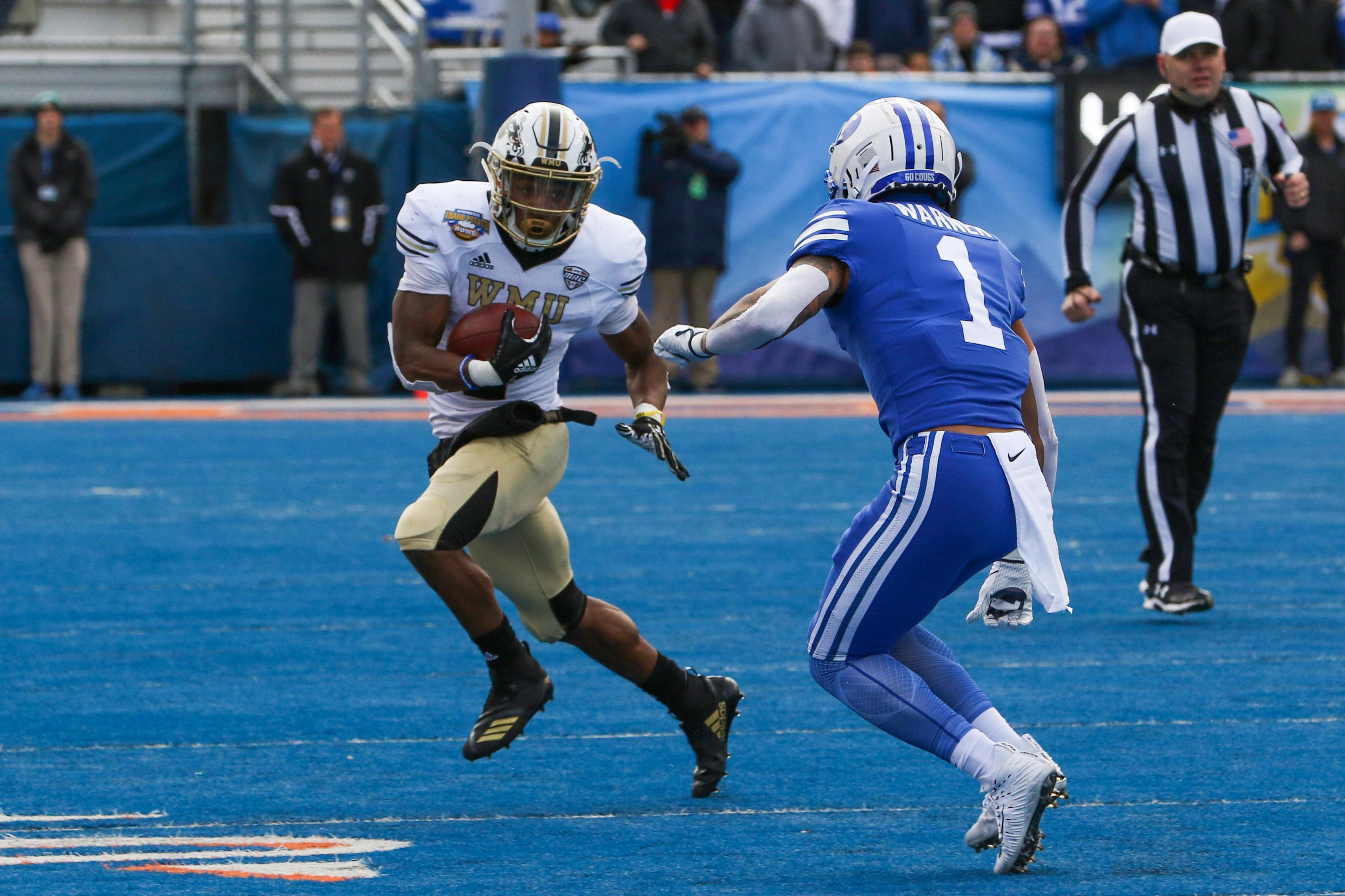 BYU beat Western Michigan University in the Famous Idaho Potato Bowl Friday in Boise. The Cougars finished seven and six for the season, and the Broncos ended with the same record.{ }
