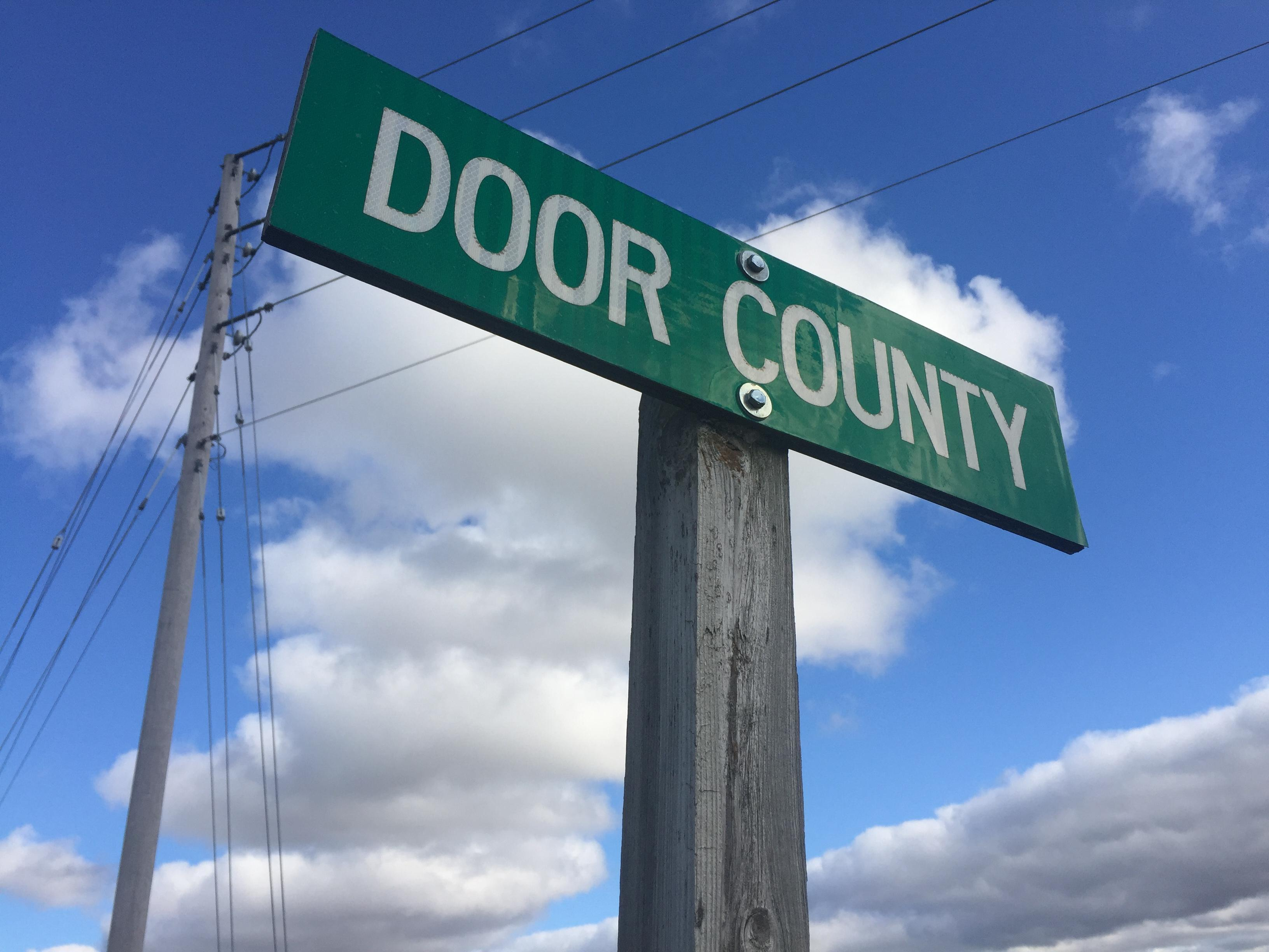 Door County sign, November 3, 2017 (WLUK/Eric Peterson)