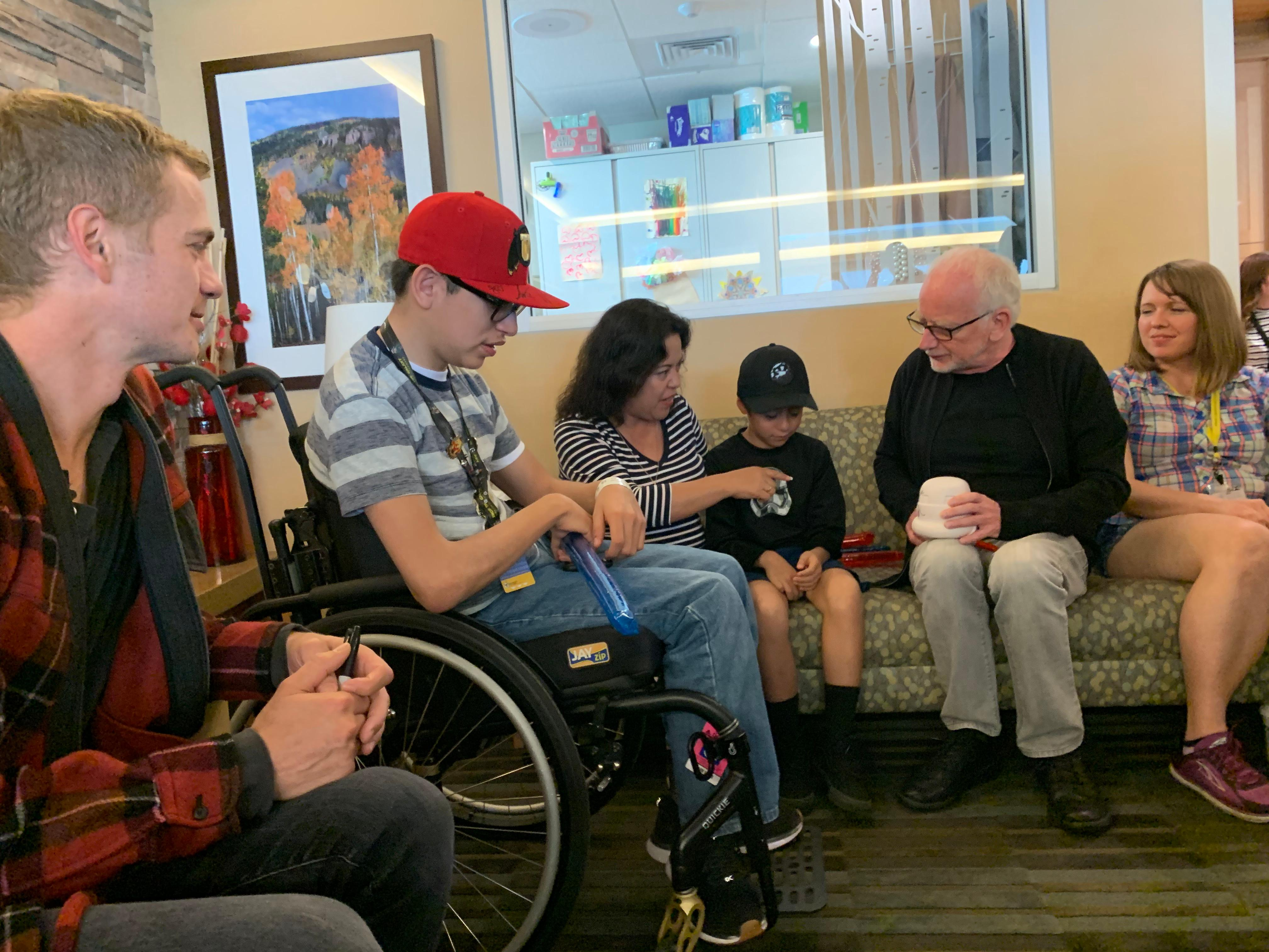 Actors Ian McDiarmid (Emperor Palpatine) and Hayden Christensen (Anakin Skywalker/Darth Vader) of Star Wars fame visit with kids and their families at Primary Children's Hospital in Salt Lake City, Utah on September 5. 2019. (Photo: Adam Forgie, KUTV)