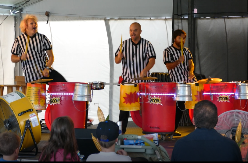 Boom! Percussion performing their stage show at the Nebraska State Fair