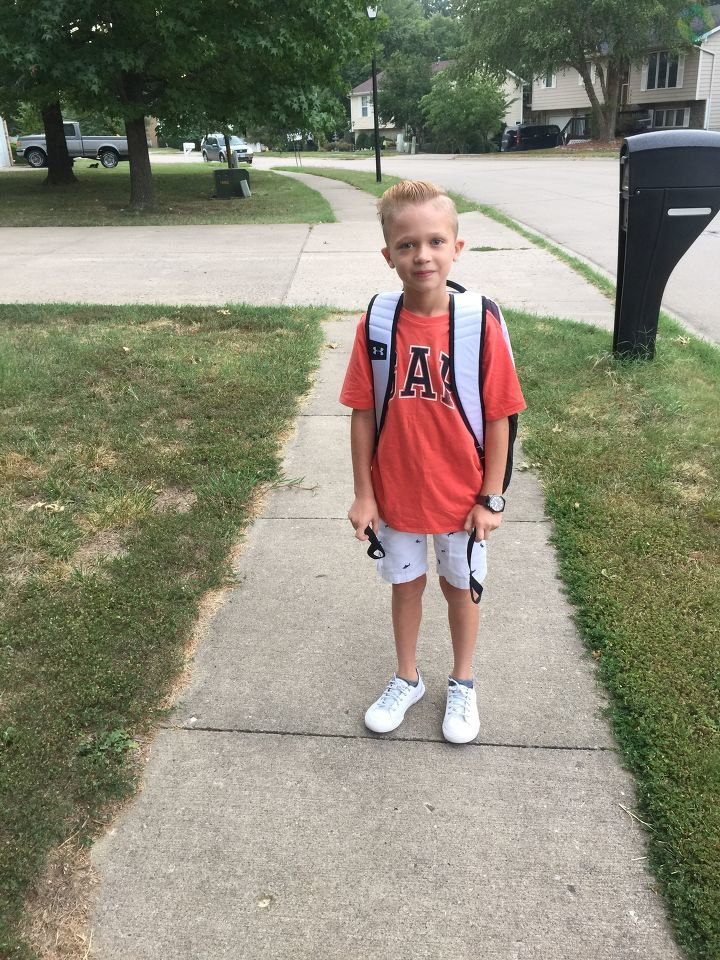 Degan Baker's first day of 6th grade. (Natasha Baker)