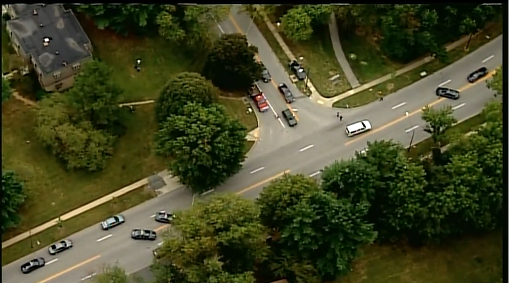 Police say they have shot a man with a gun after he threatened to kill himself and his family in Howard County. (SkyTrak7)