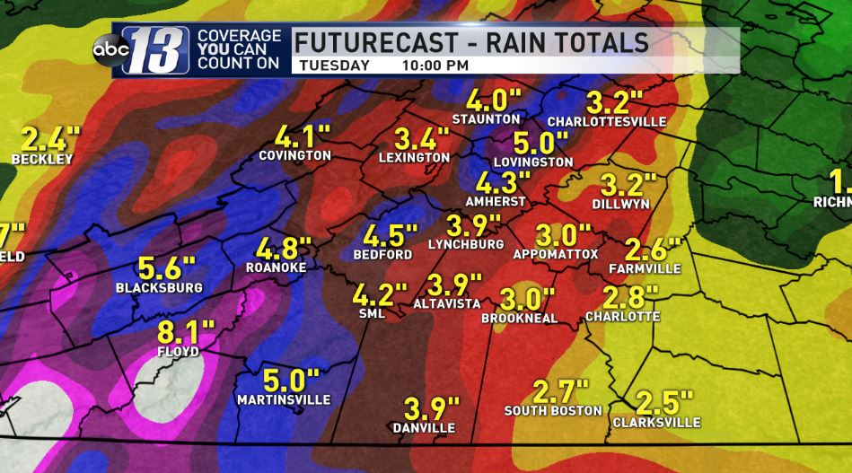 Futurecast Rainfall Totals Through Tuesday.JPG
