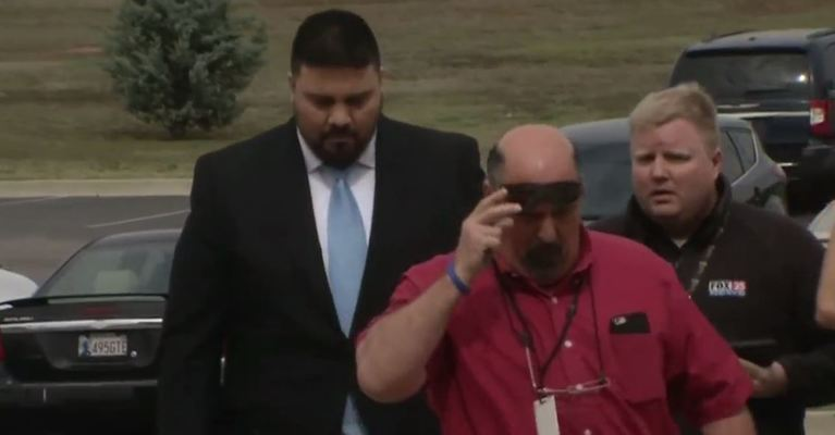 State Senator Ralph Shortey turns himself in March 16 to the Cleveland County Detention Center. (KOKH)