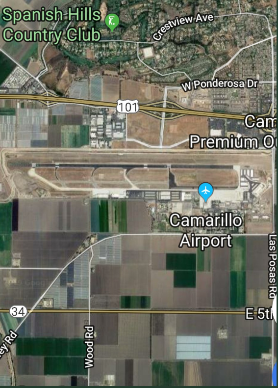 Two Utahns died when their plane crashed at the Camarillo Airport on Wednesday, authorities in California have confirmed to 2News. (Photo courtesy Ventura County Fire Department via Twitter)